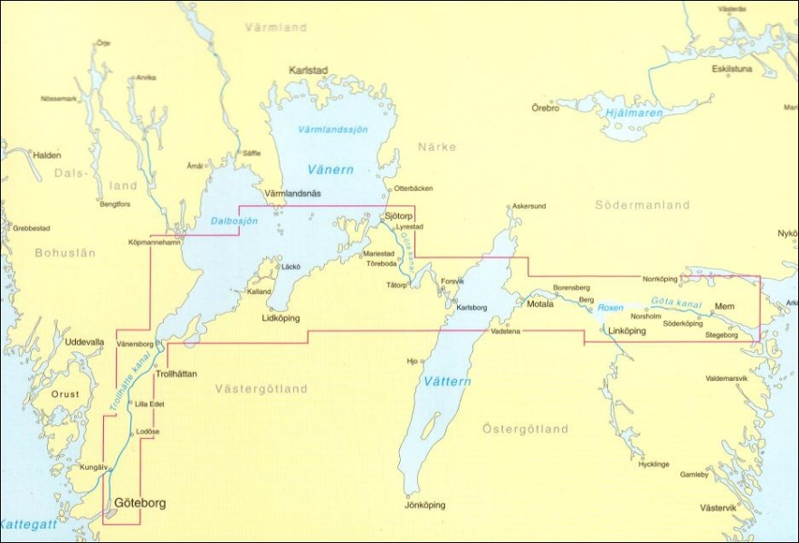 gøta kanal kart Göta Kanal   Kombipakke   Nautisk Fritid