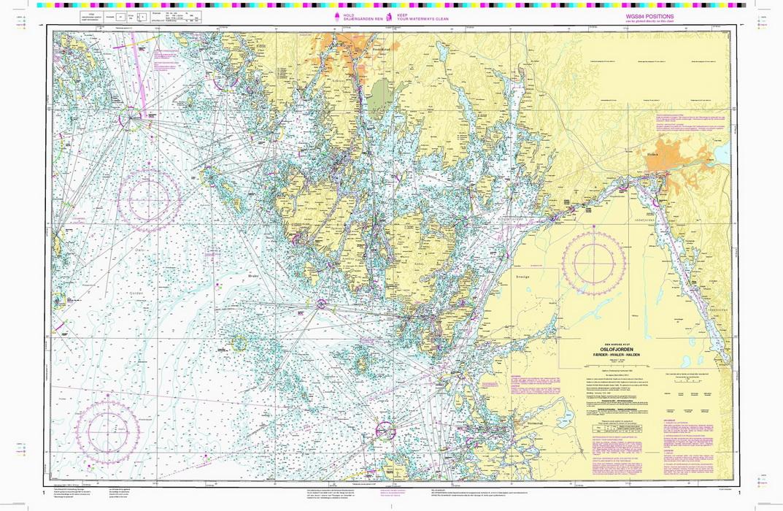 kart sjøkart 1: Oslofjorden. Færder   Hvaler   Halden   Nautisk Fritid kart sjøkart